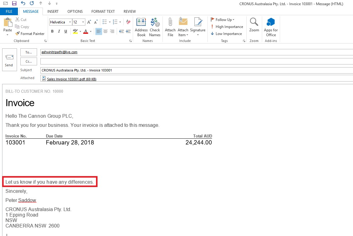 24-mail Mail Sending Option In Nav 2017 With Cover Letter