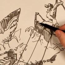 Le vieil homme et la mer inspiration bande dessinée stop motion