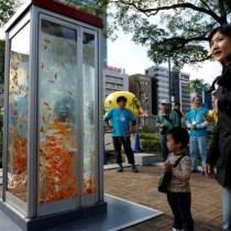 cabine telephonique poissons rouges osaka