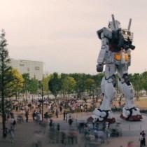 statue robot au japon style manga