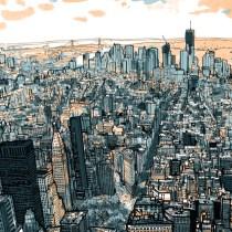 ville manhattan perspective dessin