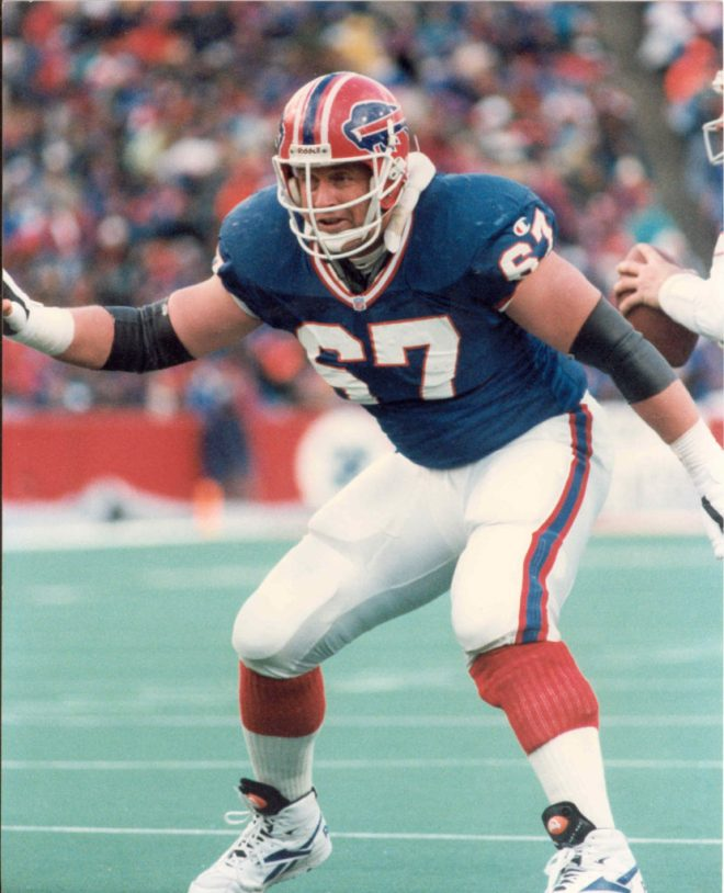 The great Kent Hull, No. 67, for the Buffalo Bills