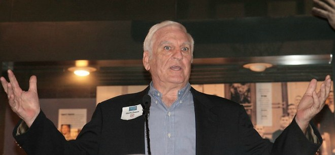 Charlie Flowers, speaking at MSHOF's Toast to the 1959 Ole Miss Rebels in the fall of 2013.
