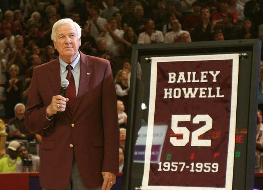 Bailey Howell, from when his MSU jersey was retired.