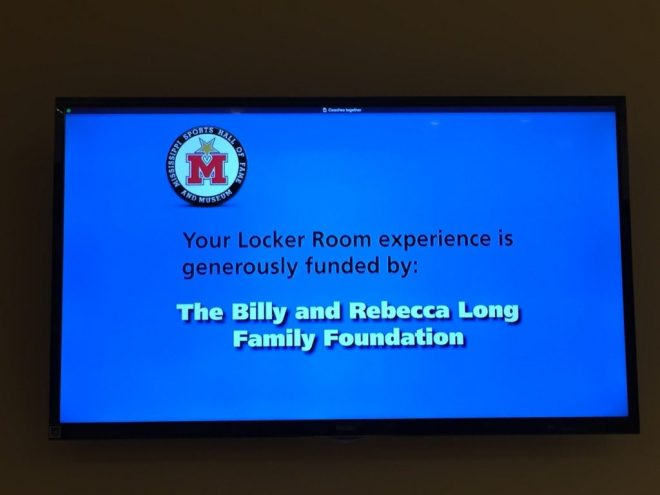 Locker room exhibit