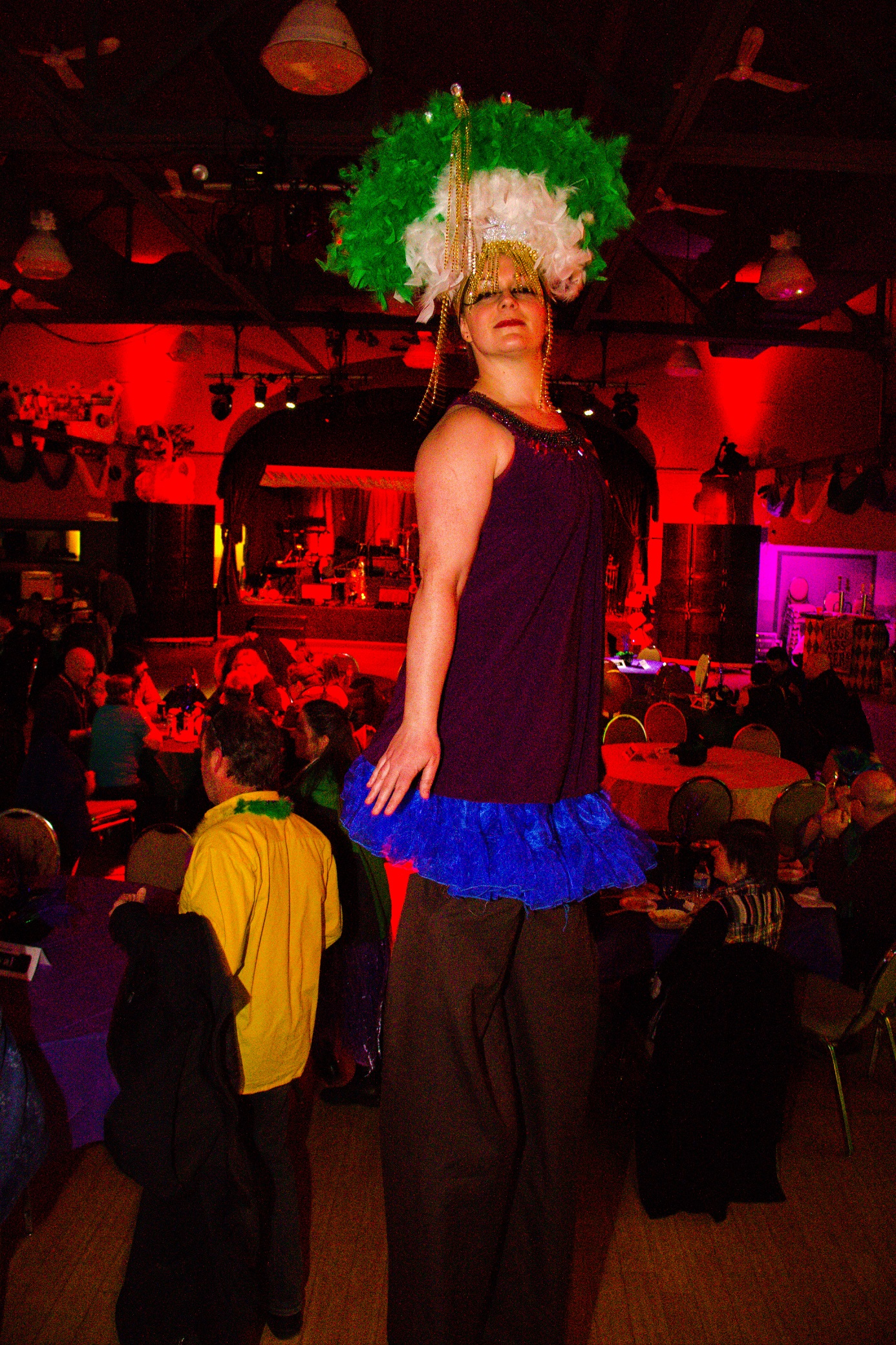 Stilt walker - one of the fabulous Atlantic Cirque performers we had at the event
