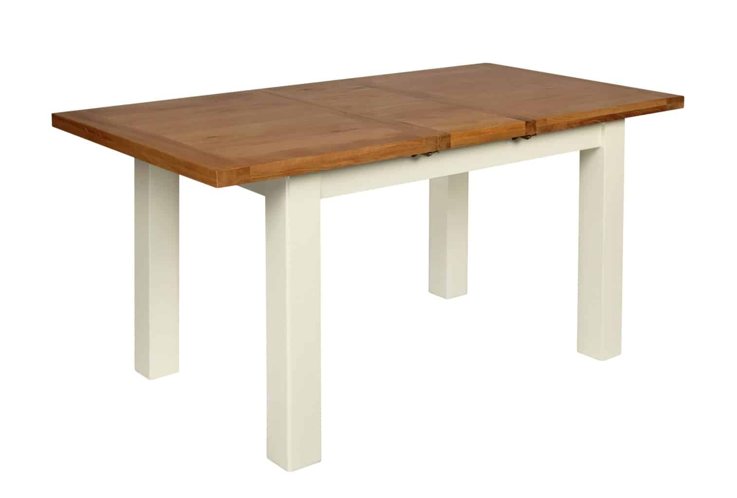 Small Extension Dining Tables Ivory Painted Oak Small Extending Dining Table With