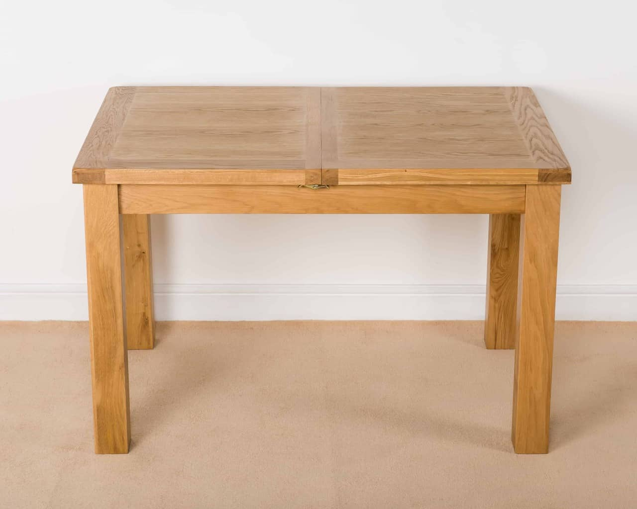 Small Extension Dining Tables Shrewsbury Solid Chunky Wood Rustic Oak Small Narrow