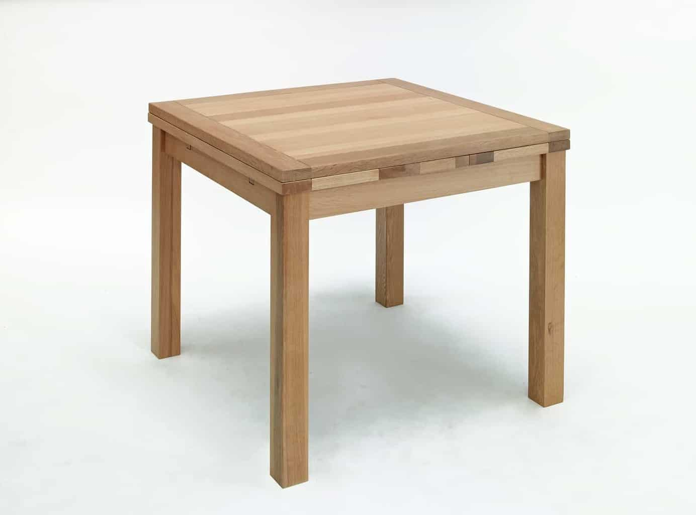 Modern Small Dining Tables Kingston Contemporary Solid Oak Small Square Extending