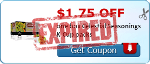 $1.75 off one box Celestial Seasonings K-Cup packs