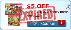$5.00 off any one Hasbro ANGRY BIRDS GO! game