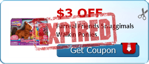 $3.00 off Furreal Friends Snuggimals Walkin Ponies