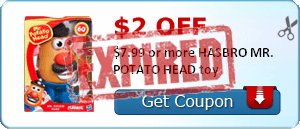 $2.00 off $7.99 or more HASBRO MR. POTATO HEAD toy