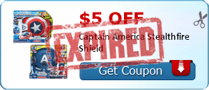$5.00 off Captain America Stealthfire Shield