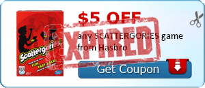 $5.00 off any SCATTERGORIES game from Hasbro