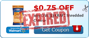 $0.75 off any ONE (1) KRAFT Shredded Cheese