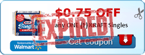 $0.75 off any ONE (1) KRAFT Singles