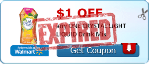 $1.00 off any ONE CRYSTAL LIGHT LIQUID Drink Mix
