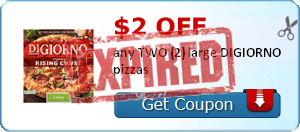 $2.00 off any TWO (2) large DIGIORNO pizzas