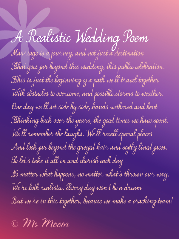 The Ultimate List of (Non-cheesy) Wedding Poems Poem, Note and - standard quotation form