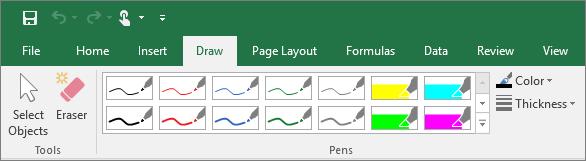 """Вкладка """"Рисование"""" в Excel"""