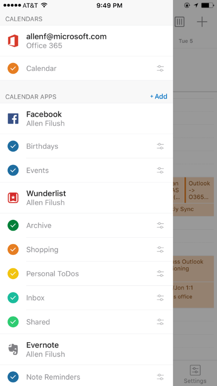Добавление аккаунтов в Outlook