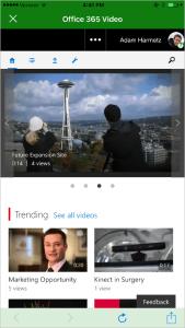 Пример сайта Office 365 video