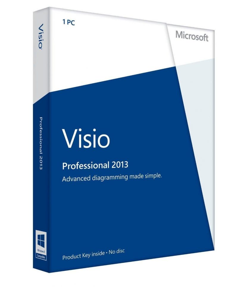 Visio Office Microsoft Visio Professional 2013 1pc License Download Ms Office Works