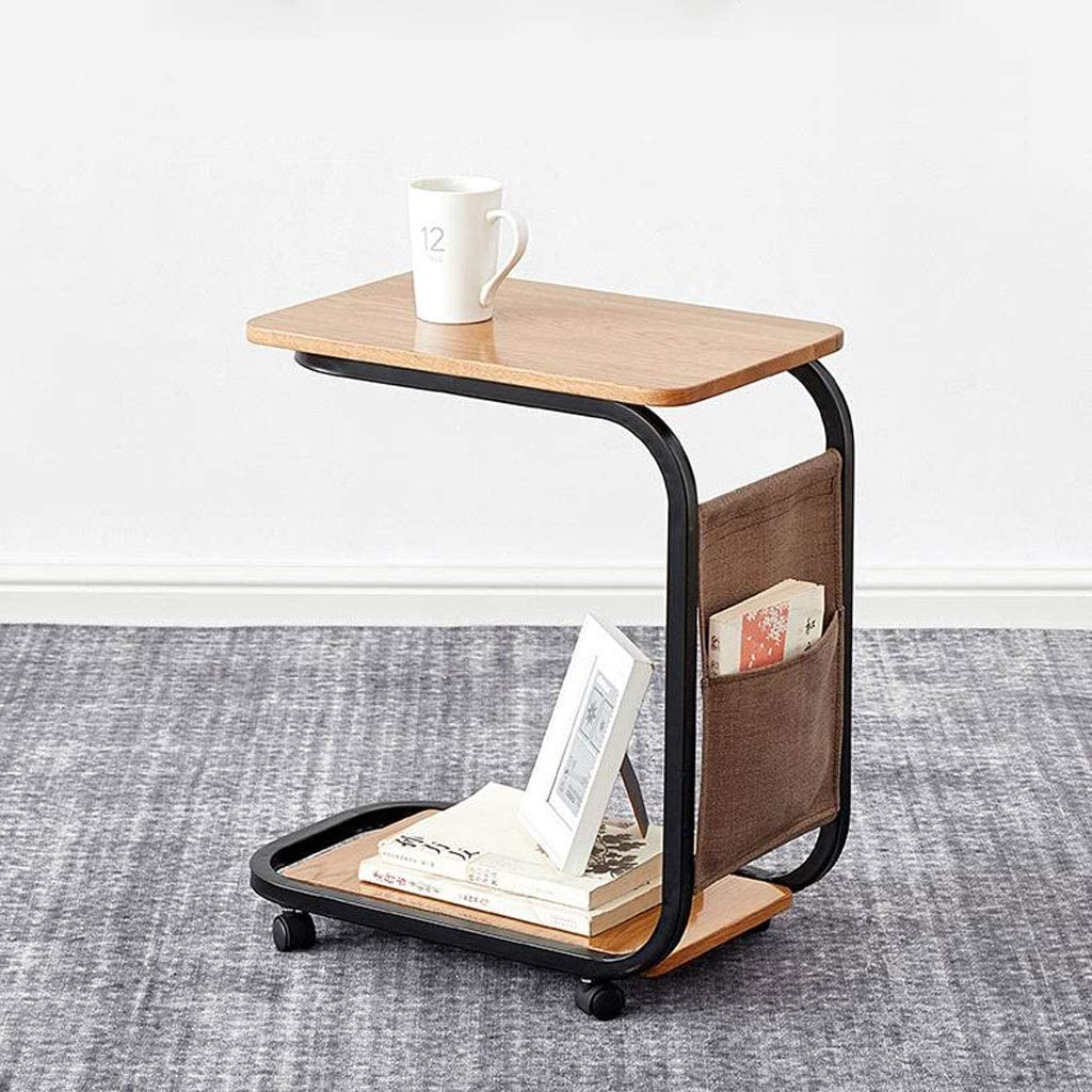 Coffee Table Solid Wood End Table Mobile Side Table With Wheels Nordic Corner Sofa Tables For