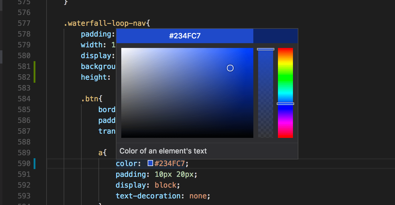 Vs Code Select Line Shortcut Visual Studio Code Now Has A Really Useful Color Picker