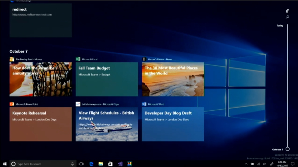 Microsoft Fall Wallpaper Windows 10 S New Timeline Experience Coming To Windows