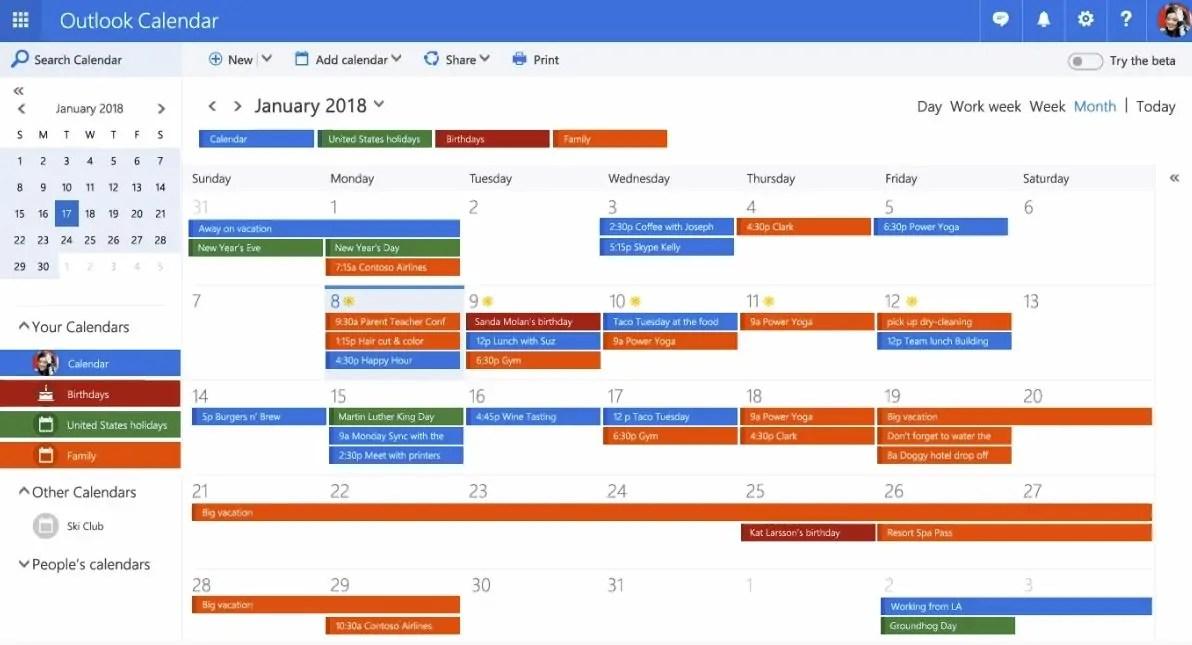 Microsoft announces redesigned Outlook calendar experience