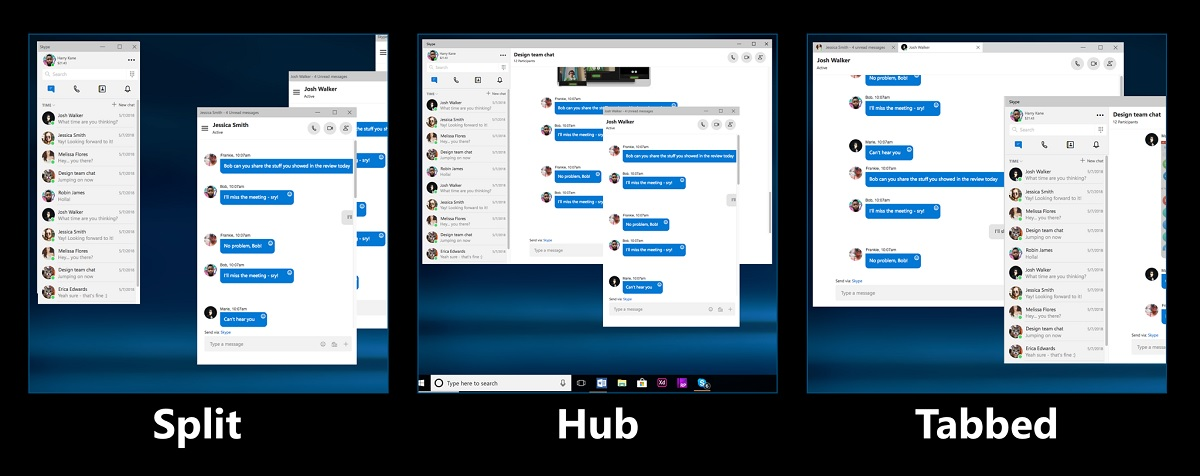 Microsoft may bring back Skype Split Window View mode (concept