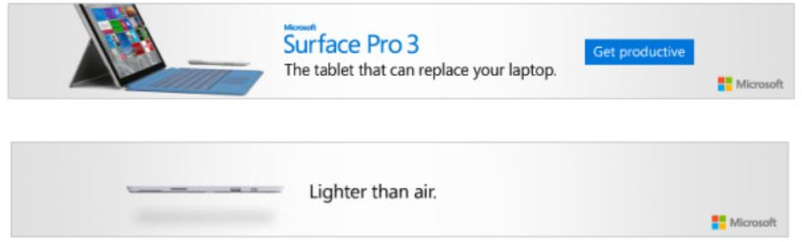 Microsoft Expands Surface Pro 3 Marketing Campaign with Web Ads