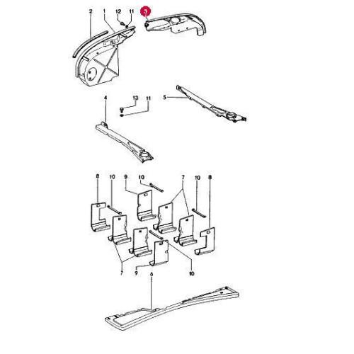 Porsche 914-6 Engine Sheet Metal Tin 90110607500