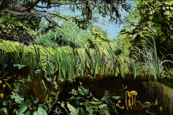2010, oil on canvas, 36 x 68 inches