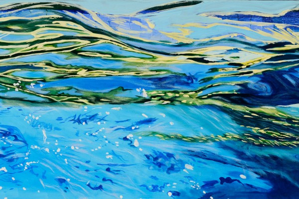 2010, oil on canvas 15 x 30 inches
