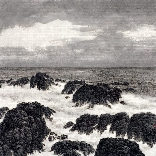 2004, Ink on Xuan Paper, 11¾ x12⅜in; 30 x 31½cm