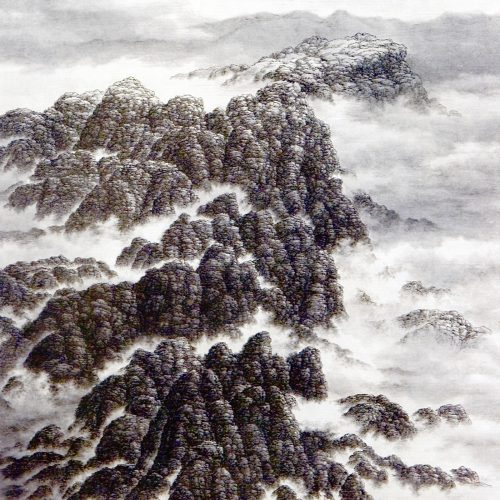 2004, Ink on Xuan Paper, mounted as hanging scroll, 37½ x 33½in; 95 x 85cm