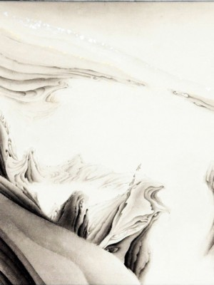 2005, ink on xuan paper, 27 x 45 inches