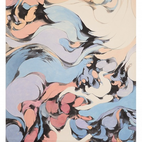 1972, ink on paper, 68.5 x 33.5 inches