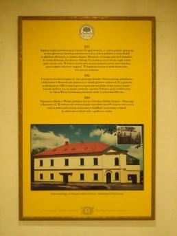 Plansza z informacjami dot. górnictwa siarkowego w Swoszowicach