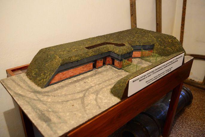 Makieta ostrogu bramnego (wartowni) / fot. BC