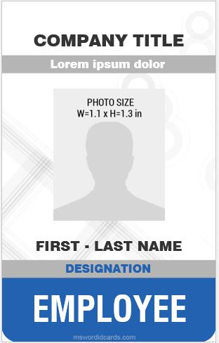 8 Best Professional Design Vertical ID Card Templates Microsoft