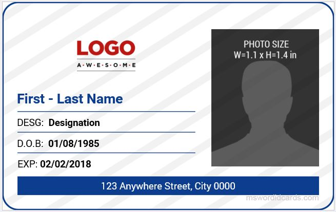5 Best Office ID Card Templates MS Word Microsoft Word ID Card