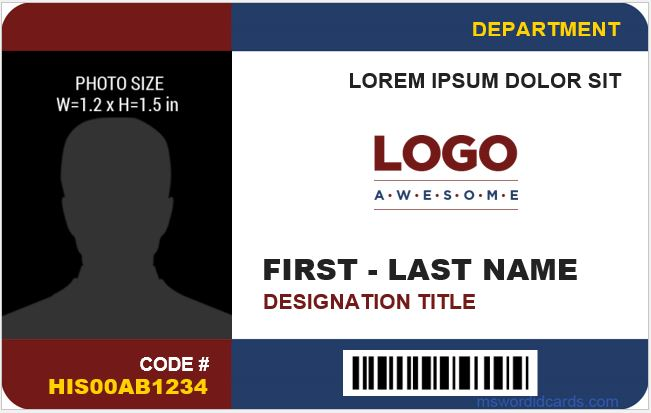 8 Best Company ID Card Templates MS Word Microsoft Word ID Card - id card template
