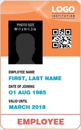 10 Best Staff ID Card Templates MS Word Microsoft Word ID Card - sample id cards