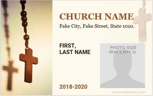 5 Best Church ID Card Templates for MS Word Microsoft Word ID Card