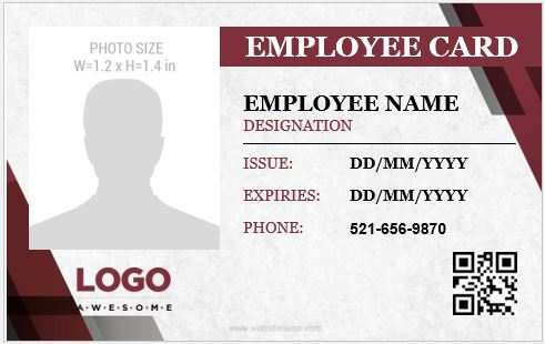 5 Best Identity Card Templates for Office Employees Microsoft Word