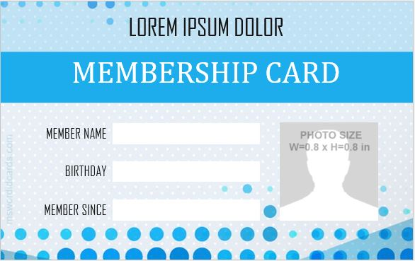 5 Best Membership ID Badge Templates for MS Word Microsoft Word ID